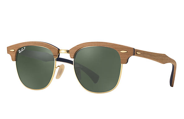 Ray-Ban 0RB3016M-CLUBMASTER WOOD Brown ROX_FRAME