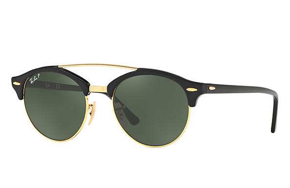 Ray-Ban 0RB4346-CLUBROUND DOUBLE BRIDGE Black ROX_FRAME