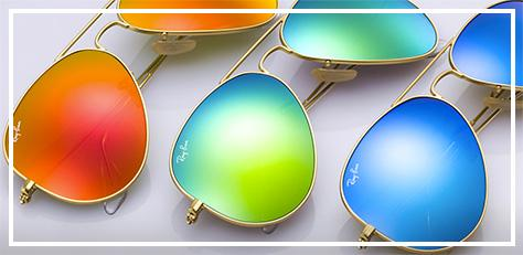 ray-ban icons flash lens aviator sunglasses