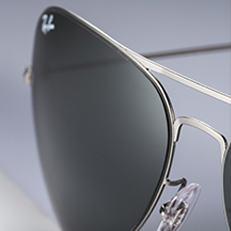 Ray-Ban AVIATOR FLAT METAL GREY サングラス