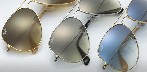Ray-Ban AVIATOR GRADIENT GOLD サングラス