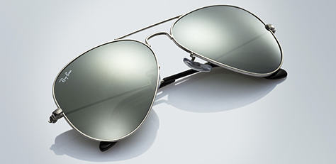 Ray-Ban AVIATOR MIRROR SILVER サングラス