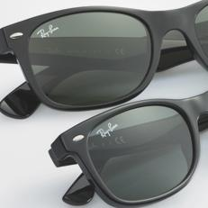 ray ban new wayfarer sunglasses glossy black  original wayfarer classic crafted in a child size version. ray ban