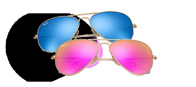 lunettes de soleil effet miroir et verres flash ray ban france. Black Bedroom Furniture Sets. Home Design Ideas