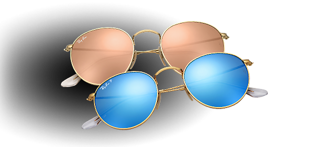 Ray-Ban Round Flash Lenses