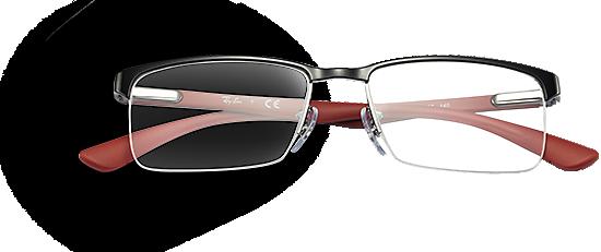 ray ban half rim sunglasses  rectangular shape