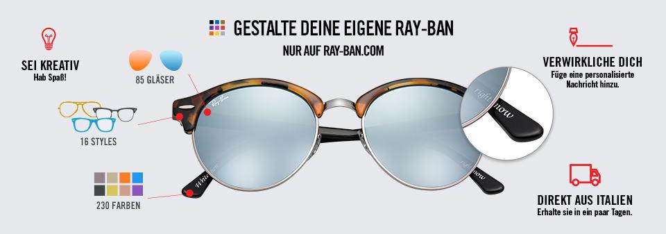 Clubround Personalisieren Ray-Ban Sonnenbrillen | Ray-Ban Online store
