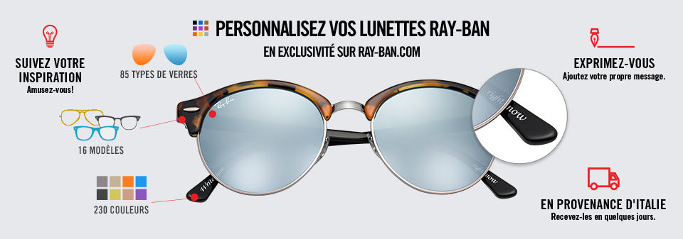 Personnaliser Lunettes de Soleil Ray-Ban Remix Clubround | Ray-Ban Online store