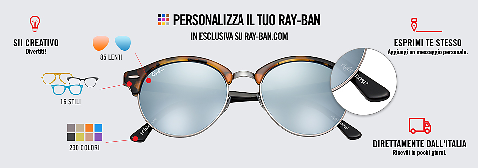 Ray-Ban Remix Clubround Occhiali da Sole Personalizzati | Ray-Ban Online store