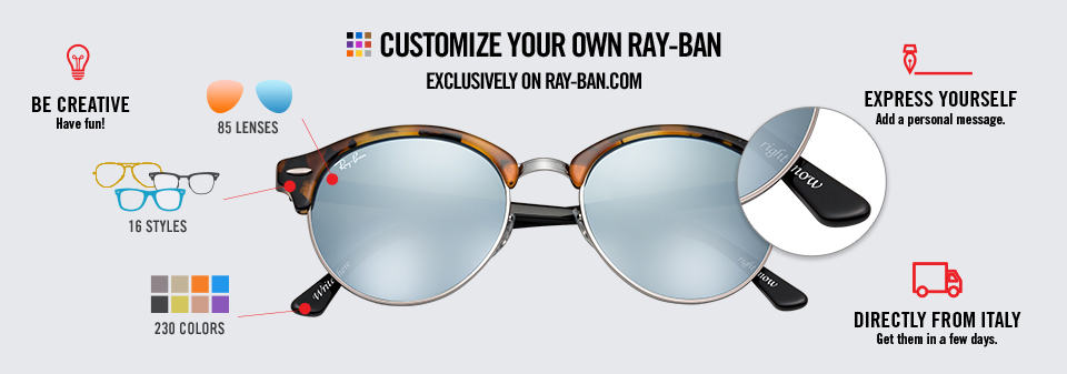 Custom Sunglasses Ray-Ban Remix Clubround | Ray-Ban Online store