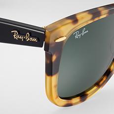 ray ban wayfarer icon in gold