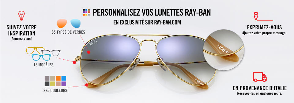 Personnaliser Lunettes de Soleil Ray-Ban Remix Aviator Junior | Ray-Ban Online store