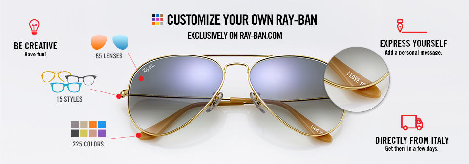 Custom Sunglasses Ray-Ban Remix Aviator | Ray-Ban Online store