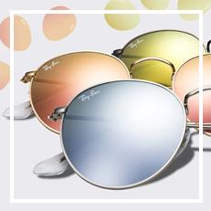 Ray-Ban Round Flash custom sunglasses