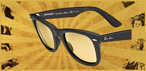 Ray-ban Remix LTD Wayfarer Ambermatic custom sunglasses