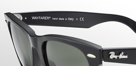 ray ban sunglasses italy  wayfarer handmade sunglasses
