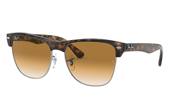 ray ban clubmaster brown sunglasses
