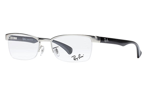 Ray-Ban 0RX6288L-RB6288 Prata; Preto OPTICAL