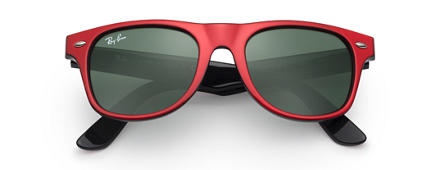 Ray-Ban WAYFARER JUNIOR Red with Green Classic lens