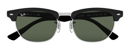 Ray-Ban CLUBMASTER JUNIOR Black with Green Classic lens