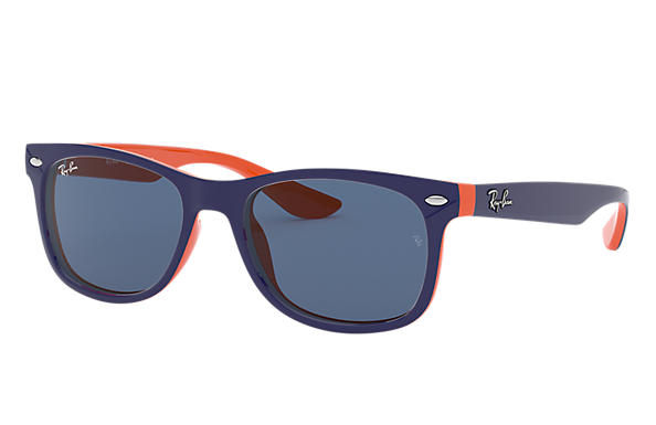 Ray-Ban 0RJ9052S-NEW WAYFARER JUNIOR Bleu,Orange SUN