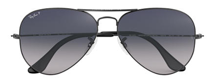 Ray-Ban AVIATOR GRADIENT Gunmetal with Blue/Grey Gradient lens