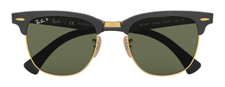 Ray-Ban CLUBMASTER ALUMINUM Black with Green Classic G-15 lens