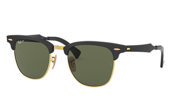 Ray-Ban 0RB3507-CLUBMASTER ALUMINUM Black SUN