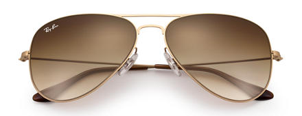 Ray-Ban AVIATOR FLAT METAL Gold with Brown Gradient lens