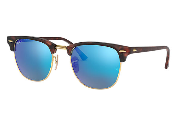 Ray-Ban 0RB3016-CLUBMASTER FLASH LENSES Tortoise SUN