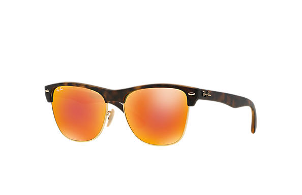 Ray-Ban 0RB4175-CLUBMASTER OVERSIZED FLASH LENSES Tortoise SUN