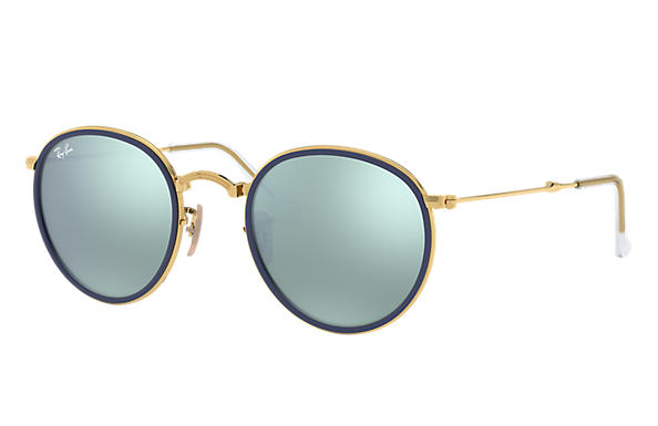 Ray-Ban 0RB3517-ROUND FOLDING Gold SUN