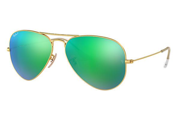 Green Ray Ban Aviators