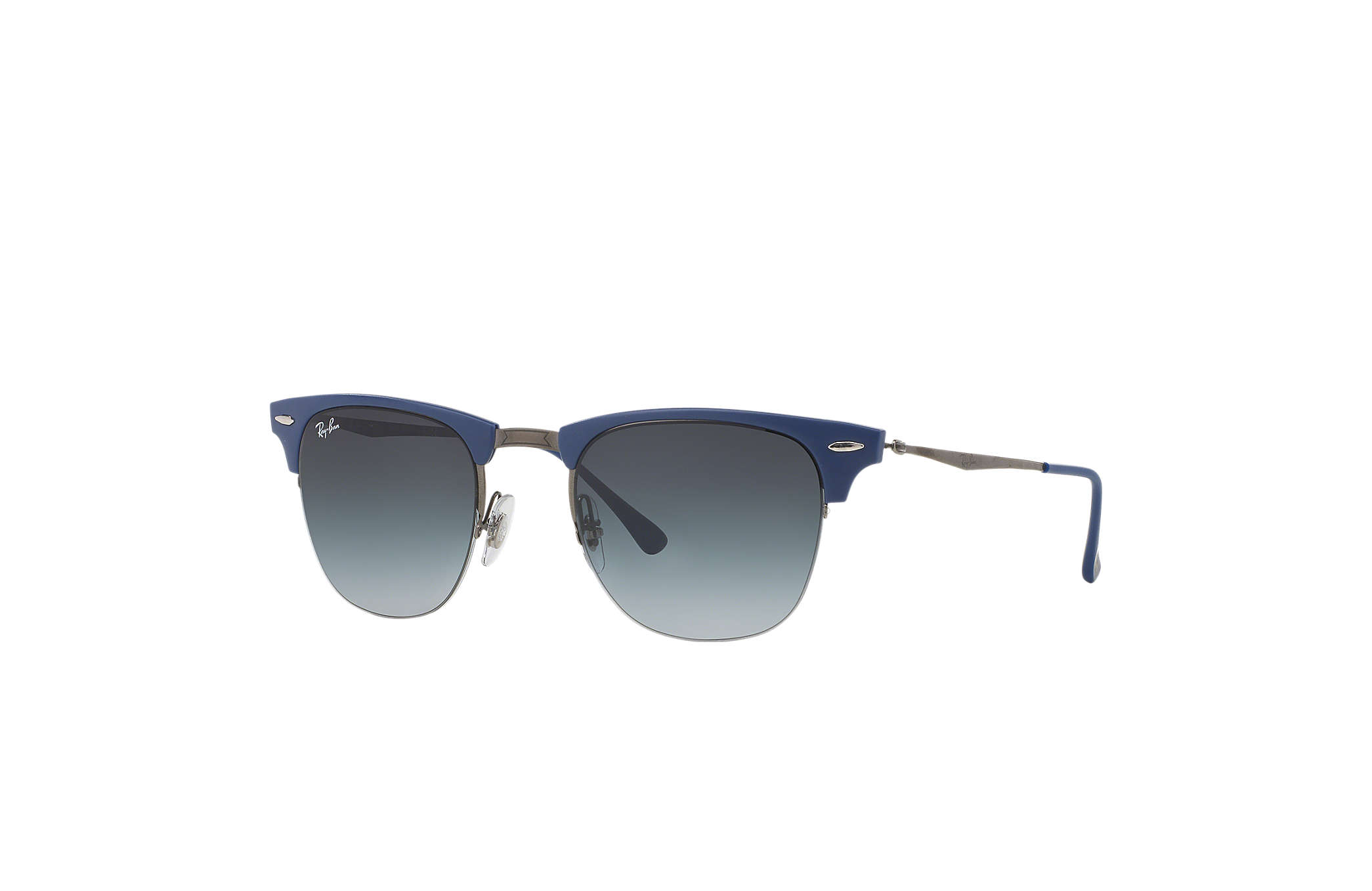 7a72a90e34 ... authentic ray ban 0rb8056 clubmaster light ray blue gunmetal sun 2c810  1d948