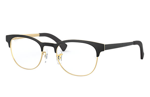 Ray-Ban 0RX6317-RB6317 Noir,Or OPTICAL