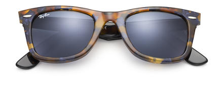 Ray-Ban ORIGINAL WAYFARER FLECK Tortoise with Blue/Gray Classic lens