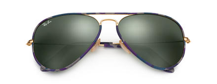Ray-Ban AVIATOR FULL COLOR Multicolor with Green Classic G-15 lens