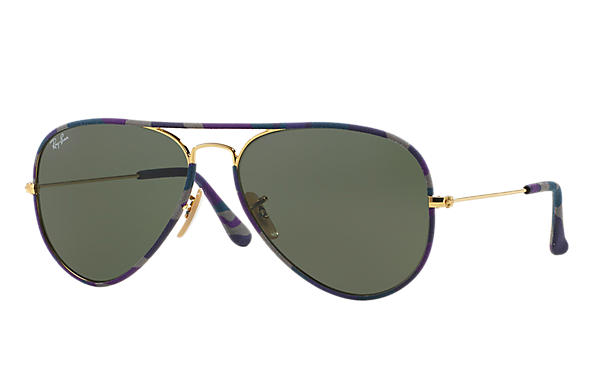 Ray-Ban 0RB3025JM-AVIATOR FULL COLOR Multicolor; Gold SUN