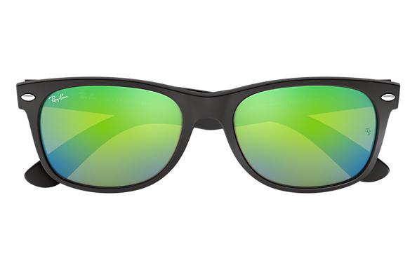 ray ban green wayfarer  Ray-Ban New Wayfarer Flash Black, RB2132