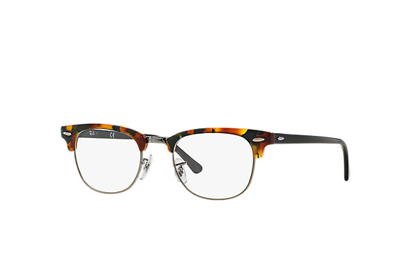 Ray-Ban 0RX5154-Clubmaster Fleck Optics Tartaruga; Preto OPTICAL