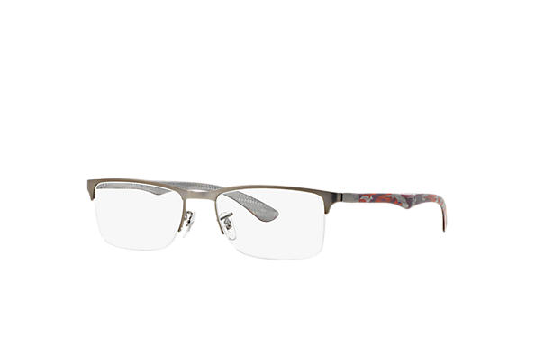 Ray-Ban 0RX8413-RB8413 Gun; Rouge OPTICAL