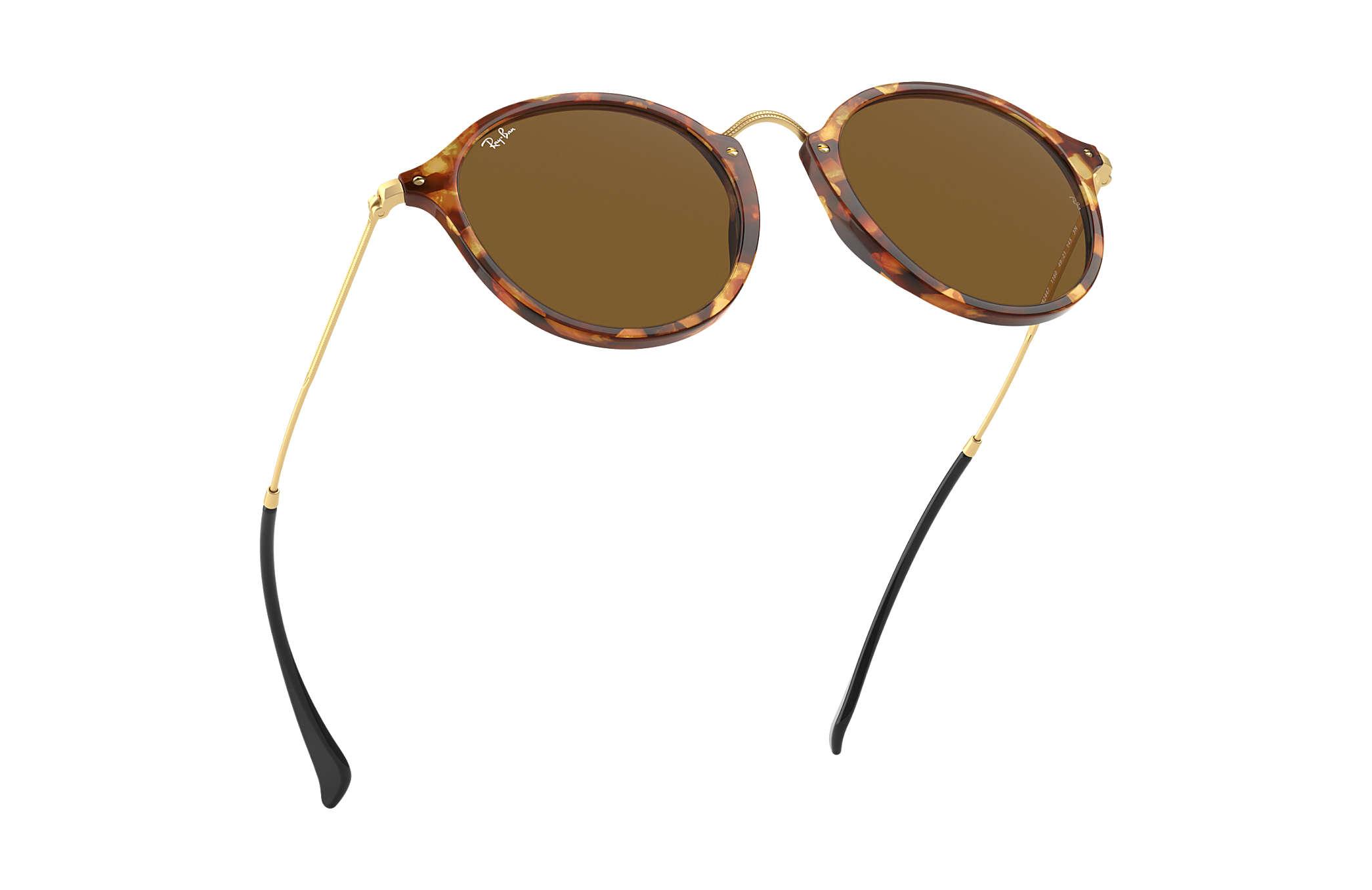040aa9190f6 ... sunglasses rb2447 901 4o 49  ray ban 0rb2447 round fleck tortoise gold  sun ...