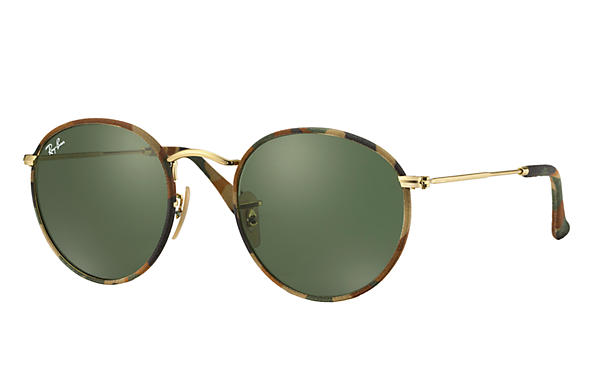 Ray-Ban 0RB3447JM-ROUND CAMOUFLAGE Multicolor; Oro SUN