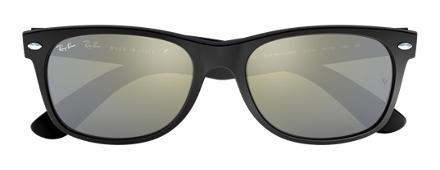 Ray-Ban NEW WAYFARER FLASH Svart med Silver Flash lins
