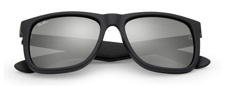 Ray-Ban JUSTIN COLOR MIX Black with Grey Mirror lens