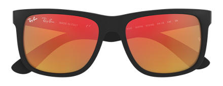 Ray-Ban JUSTIN COLOR MIX Black with Red Mirror lens