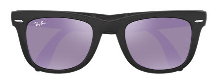 Ray-Ban WAYFARER FOLDING FLASH LENSES Black with Lilac Mirror lens