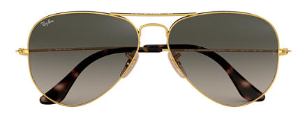 Ray-Ban AVIATOR HAVANA COLLECTION Gold with Grey Gradient lens