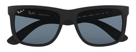 Ray-Ban JUSTIN CLASSIC Black with Blue Classic lens