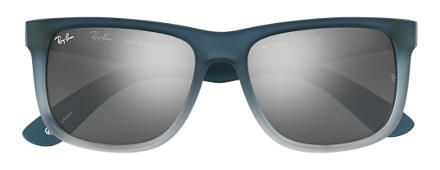 Ray-Ban JUSTIN at Collection Blue with Silver Gradient Mirror lens